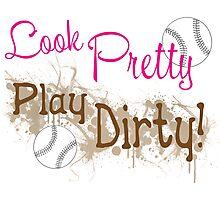 Dirty Softball Photographic Print