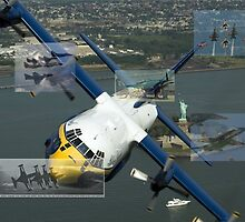 Blue Angels Montage #3 by John Schneider