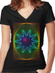 tripfest 1 Women's Fitted V-Neck T-Shirt