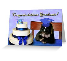 Graduation Skunk Greeting Card