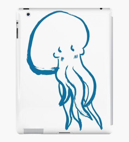 Cute Shy Octopus Blue iPad Case/Skin