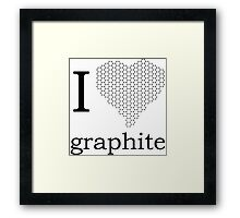I _heart_ Graphite Framed Print