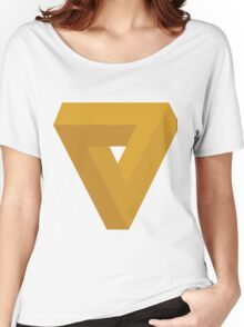 Triangle Illusion Orange Women's Relaxed Fit T-Shirt