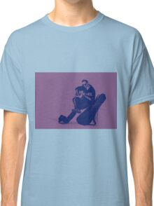 Guitarist playing on the street. Drawing illustration Classic T-Shirt