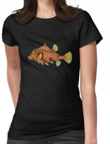 Plants and Animals, ocean, sea creature, fish, Ostraciontes, marine, psychedelic, art, illustration, haeckel,  Womens Fitted T-Shirt