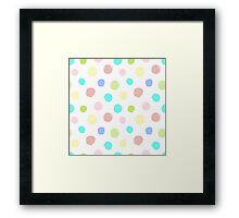 Hand painted circles Framed Print