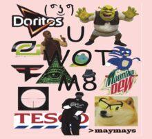 U WOT M8 Montage Parody (Dress Code Safe) Kids Clothes