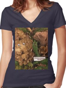 The Year of the Pig's Ear Women's Fitted V-Neck T-Shirt