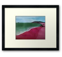 Pink Sands Framed Print