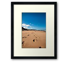 Leave Only Footprints Take Only Memories Framed Print