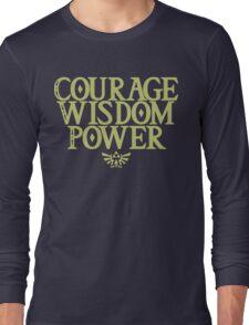The Legend of Zelda - Courage Wisdom Power Long Sleeve T-Shirt
