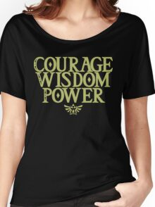 The Legend of Zelda - Courage Wisdom Power Women's Relaxed Fit T-Shirt