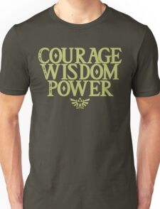 The Legend of Zelda - Courage Wisdom Power Unisex T-Shirt