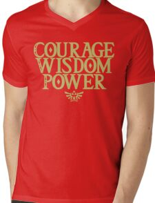 The Legend of Zelda - Courage Wisdom Power Mens V-Neck T-Shirt
