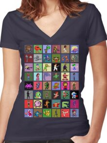 Pixel Heroes Women's Fitted V-Neck T-Shirt