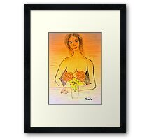 Breastcancer have a mammogramm this month..... Framed Print
