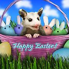 Easter Opossum by jkartlife