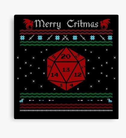 D20 - Merry Critmas  Canvas Print
