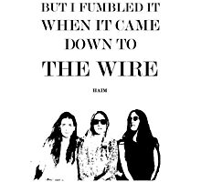 the wire Photographic Print
