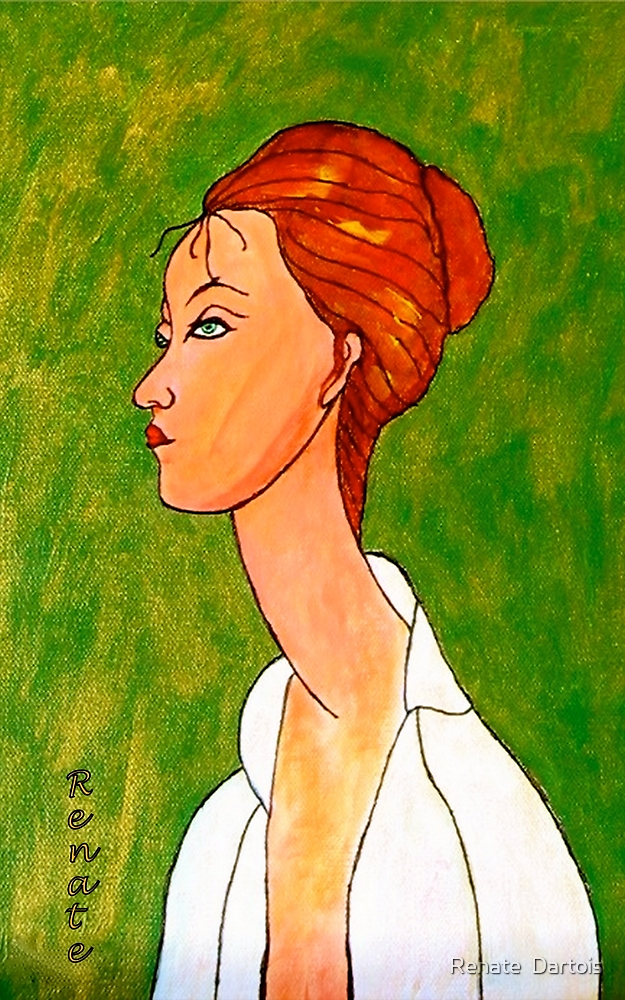 Modigliani inspired..... by Renate  Dartois