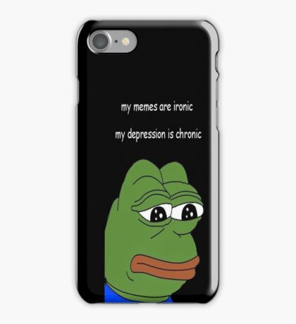 my memes are ironic iPhone Case/Skin
