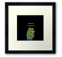 my memes are ironic Framed Print