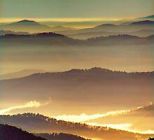 Misty ridge tops by Kevin McGennan