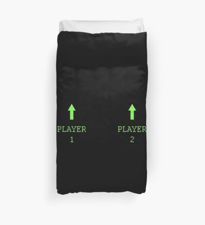 Player 1 & Player 2 Duvet Cover