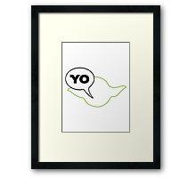 Star Wars Yoda Yo Parody  Framed Print