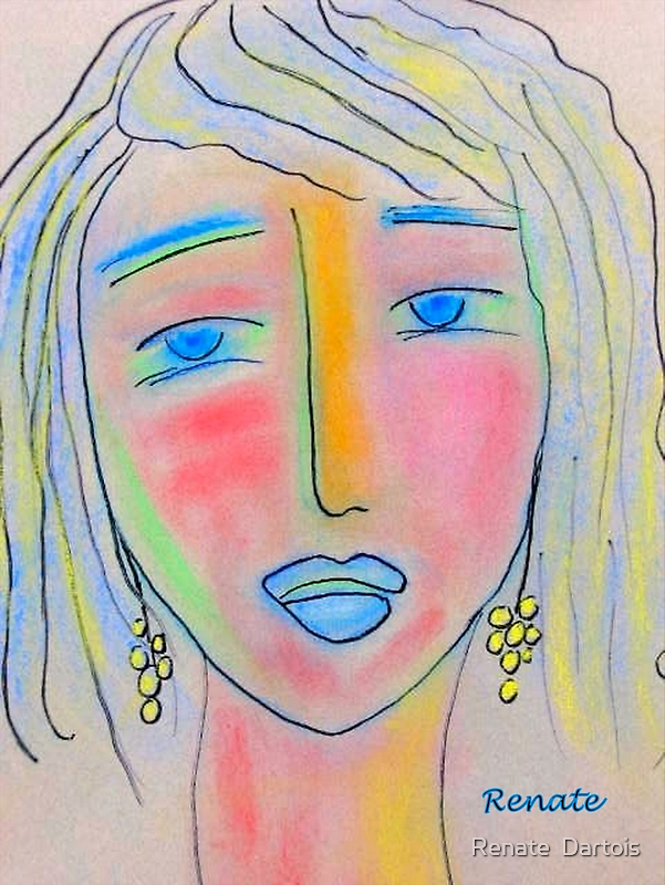 Blue eyes.           ( Drawing day) by Renate  Dartois