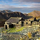 Dubs Hut Bothy on the path to Haystacks by Martin Lawrence