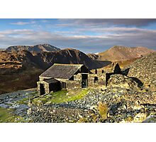 Dubs Hut Bothy on the path to Haystacks Photographic Print
