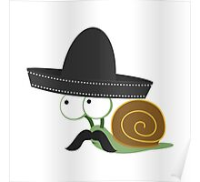 Caracolcito Bandito snail  Poster