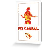 Fly Casual Greeting Card