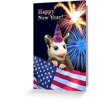 New Years Opossum Greeting Card
