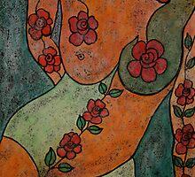 Wearing nothing but Roses.... by Renate  Dartois
