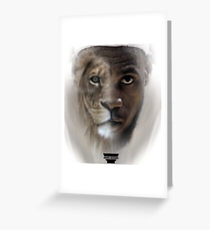 LeBron James 'Lion' Design Greeting Card