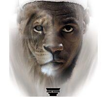 LeBron James 'Lion' Design Photographic Print