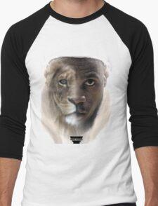 LeBron James 'Lion' Design Men's Baseball ¾ T-Shirt