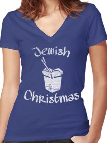 Jewish Christmas Women's Fitted V-Neck T-Shirt