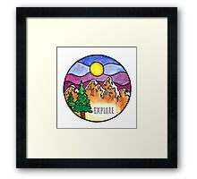 Explore the Outdoors  Framed Print