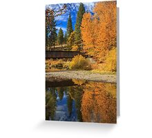 Bridge Over The Susan River Greeting Card