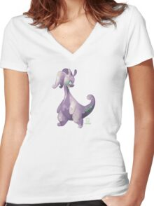Pokémon - Goodra Women's Fitted V-Neck T-Shirt