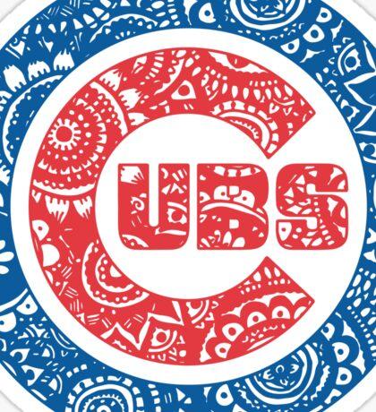 Cubs Circle Logo Doodle Sticker