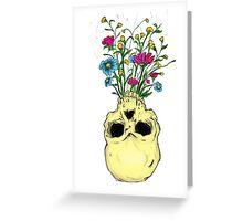 Skull Flowers Greeting Card