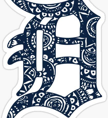 Detroit Tigers Doodle Sticker