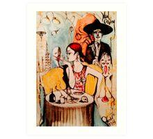 She's got oil ( The Mad Cowboy Disease )  Art Print