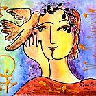 The Dove-whisperer...(please read description) by Renate  Dartois