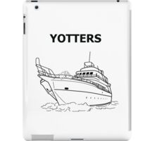 Yotters, Otters on a boat, in Black iPad Case/Skin