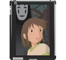 """Don't be such a scaredy cat, Chihiro"" - Spirited Away Art iPad Case/Skin"
